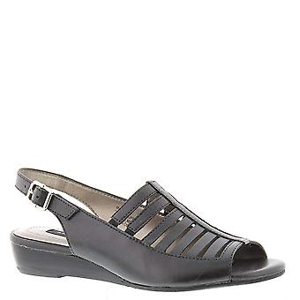ARRAY Womens Iris Leather Peep Toe Casual Strappy Sandals
