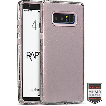 SS Note 8 - Rapture Clear Silver Glitter/Pink