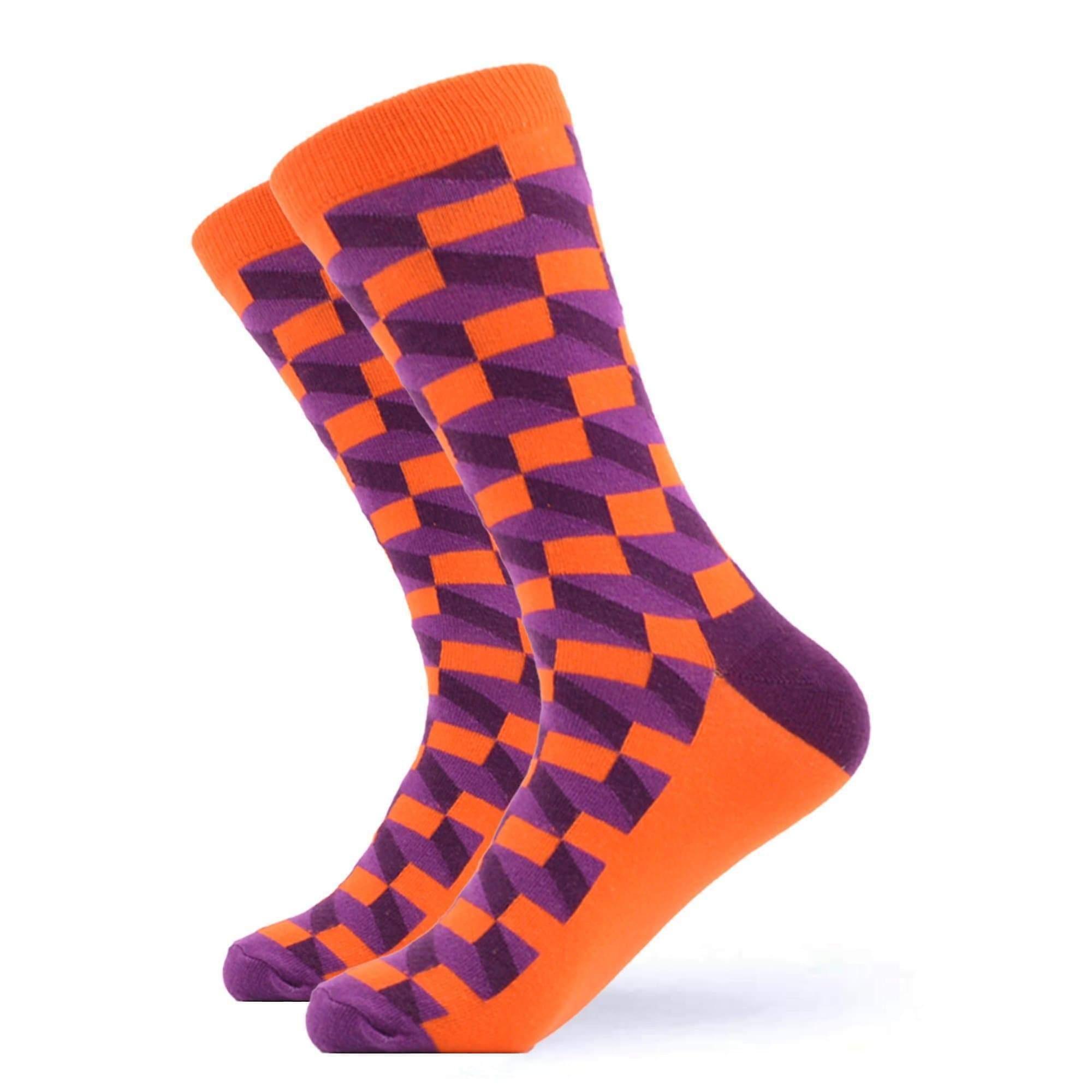 Men's bright geo block gift box 3 pairs of socks