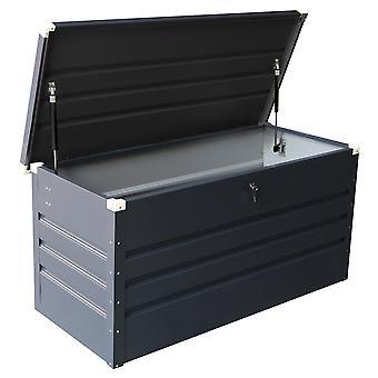 Charles Bentley Metal Storage Chest w/ Verrouillage - Clé imperméable à l'eau Seal Hydraulic Lid