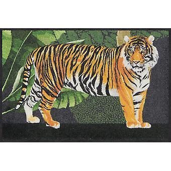 Salonloewe tigre de paillasson lavable, tigre dans la jungle