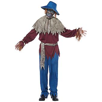 Scarecrow Horror Creepy Monster Evil Wicked Halloween Adult Mens Costume
