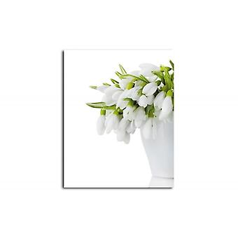 Canvas, Picture on canvas, Flowers in a white vase