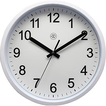 nXt - Wall clock - 25,5 cm Ø - Plastic -  White - 'Robust'