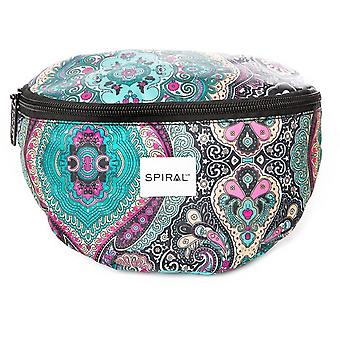 Spiral Paisley Bum Bag in Green