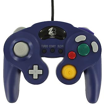 Wired controller for nintendo gamecube gc vibration gamepad with turbo function - purple