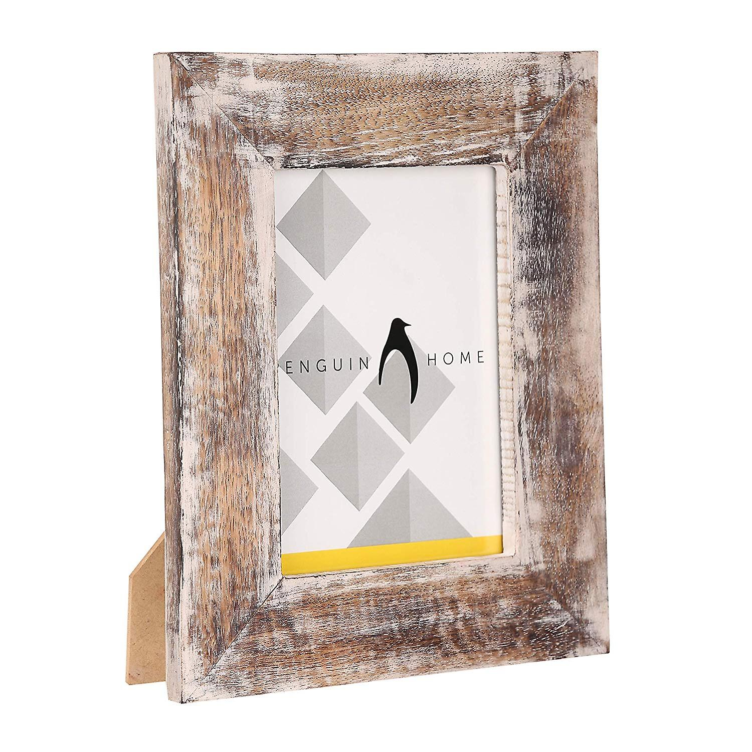 Penguin Home Handcrafted White Wash Effect Photo Frame