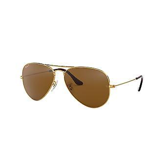 Ray-Ban Aviator RB3025 001/57 Guld Arista/ Polariserade Crystal Brown Solglasögon