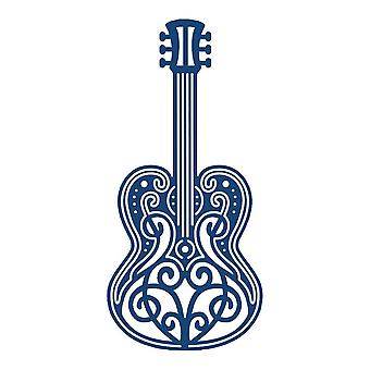 Guitar: Tattered Lace Metal Die Paper Card Cutting Stephanie Weightman