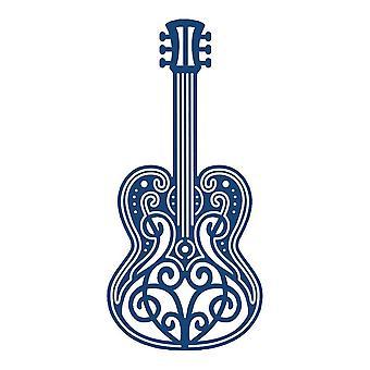 Gitarre: Tatverdächtiger Lace Metal Die Paper Card Cutting Stephanie Weightman