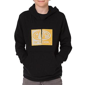 Animal Boys Kids Ryder Long Sleeve Casual Pullover Hoody Sweater Hoodie - Black