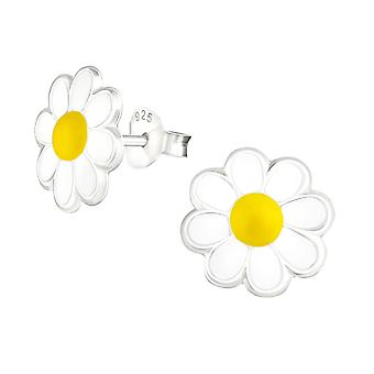 Flower - 925 Sterling Silver Colourful Ear Studs - W5285X