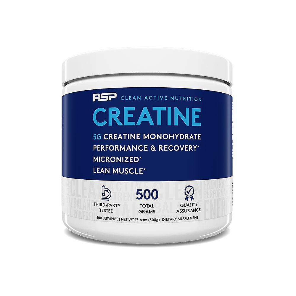 Rsp creatine monohydrate – pure micronized creatine powder supplement for increased strength, muscle recovery, & performance, unflavored
