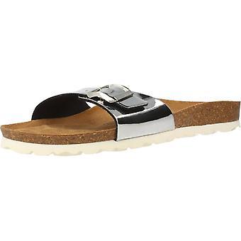 Gele winkel sandalen Londen kleur zilver