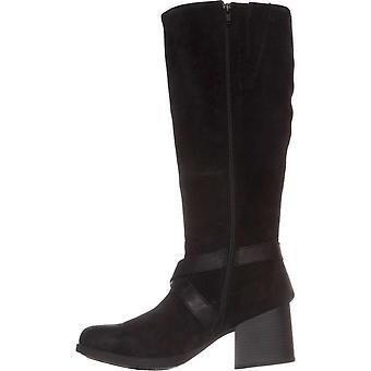 B.O.C Womens Dakota Leather Almond Toe Knee High Riding Boots