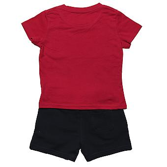 Baby Boys Lyle and Scott T-Shirt Set Corto In Rosso- T-Shirt:- Manica corta-