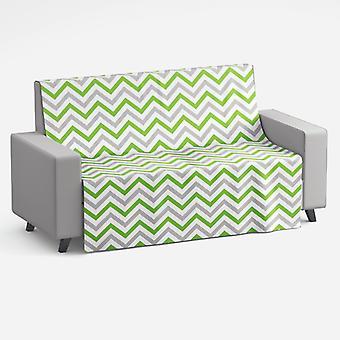 Meesoz pohovka hodiť-módne Zigzags zelená II