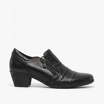 Gabor Sherbert Ladies Leather Ankle Boots Black