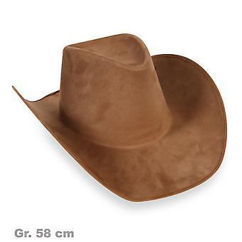 Cowboy hat brown semsket utseende av vill vest
