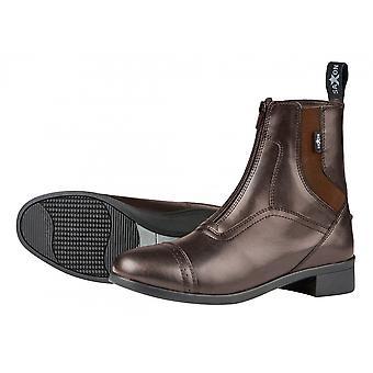 Saxon Syntovia Adults Horse Riding Zip Paddock Boots - Brown