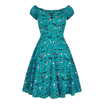 Collectif Vintage Women's Flared Mini Dolores 50s Car Print Doll Dress