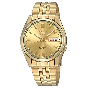 Seiko 5 Автоматическая золото нержавеющей стали мужские часы SNK366K1