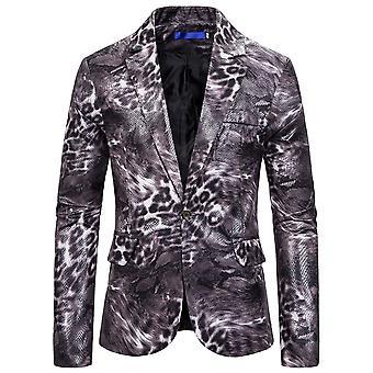 Allthemen menn ' s en knapp dyret stil fancy avslapping bakre Split Dress jakke