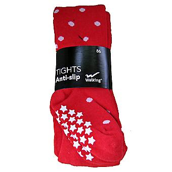 Pantalon de chaussette antihalk rouge avec des points 86 cl