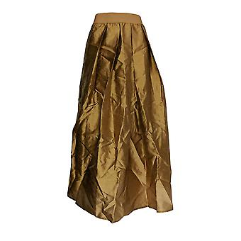 Joan Rivers Classics Collection Petite Skirt Faux Dupioni Gold A366872
