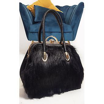 IKRUSH Womens Jessy Faux Fur Handbag