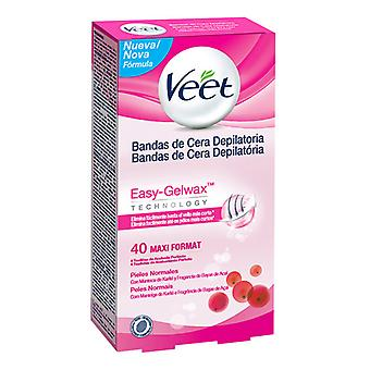 Veet Normal Skin Easy Gelwax Hair Removing Wax Strips (Pack of 40)