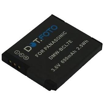 Dot.Foto Panasonic DMW-BCL7, de batterij van de vervanging van de DMW-BCL7E - 3.6V / 690mAh