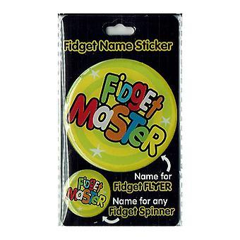 Geschiedenis & heraldiek Fidget naam sticker Fidget Master