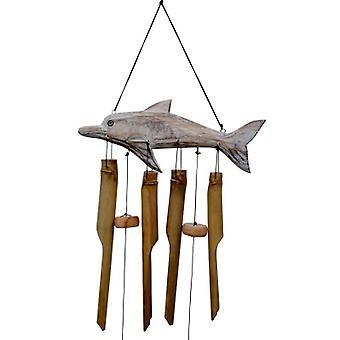 Carillon de vent de bambou de dauphin