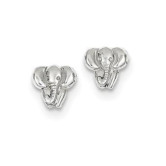 8mm 14k White Gold Elephant Earrings Jewelry Gifts for Women - 1.0 Grams