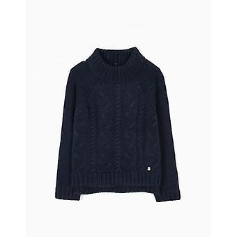 Zippy Sweater Knit Dress Blue