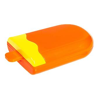 Orange Lolly Contact Lens Case & Kit