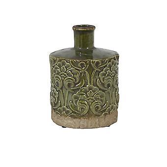 Light & Living Vase Deco 18.5x25.5cm Mezana Ceramics Green