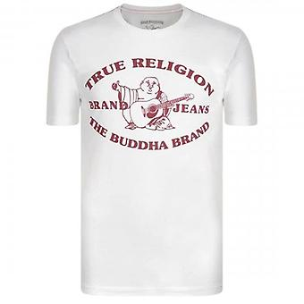 True Religion Buddha Print White T-Shirt 101060