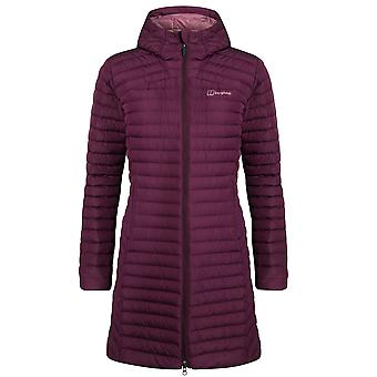 Berghaus Nula Micro Long Womens Padded Hooded Jacket Coat Purple