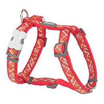 Red Dingo Arnés para Perros Flanno Rojo M (Honden , Halsbanden en Riemen , Tuigjes)