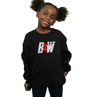 Marvel Girls Black Widow Movie Initial Logo Sweatshirt