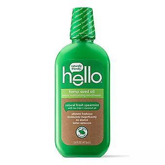 Hallo Hanf Samenöl Extra feuchtigkeitsbefeuchtende Mundwasser natürliche frische Spearmint