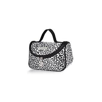 Leopard Wit Patroon Cosmetische Make Up Travel Package Case Pouch - Model 283