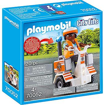 The Playmobil 70052 City Life Rescue Balance Racer 20PC Playset