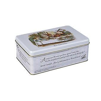 Alice in wonderland english tea gift tin with 100 teabag selection