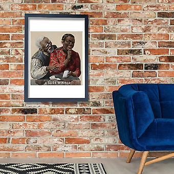 A sure winner tobacco advertising ca. 1895 Poster Print Giclee