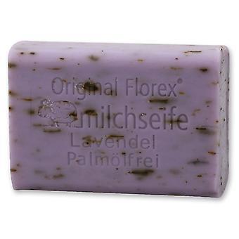 Florex Schafmilchseife - Lavendel ohne Palmöl - hochwertige aromatische Seife mit beruhigender Wirkung 100 g