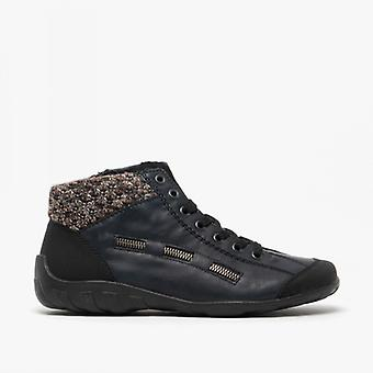 Rieker L6543-00 Signore Casual Ankle Boots Navy/nero