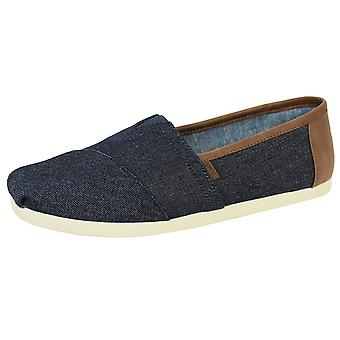 Toms men's dark denim classic shoes